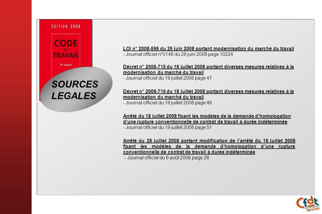 LOI n° 2008-596 du 25 juin 2008 portant modernisation du marché du travail