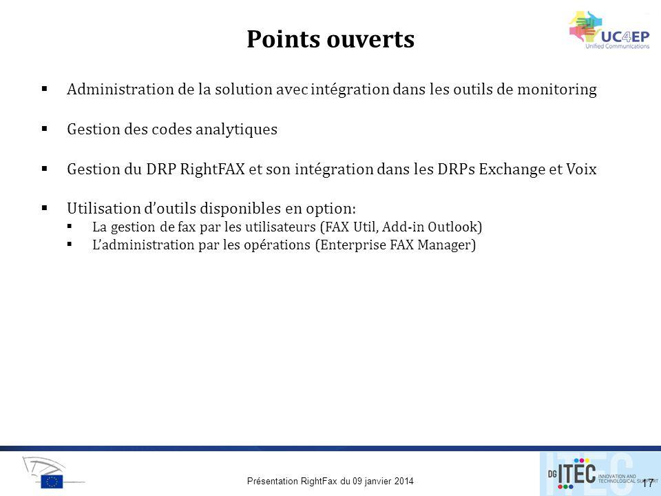 Présentation RightFax du 09 janvier 2014