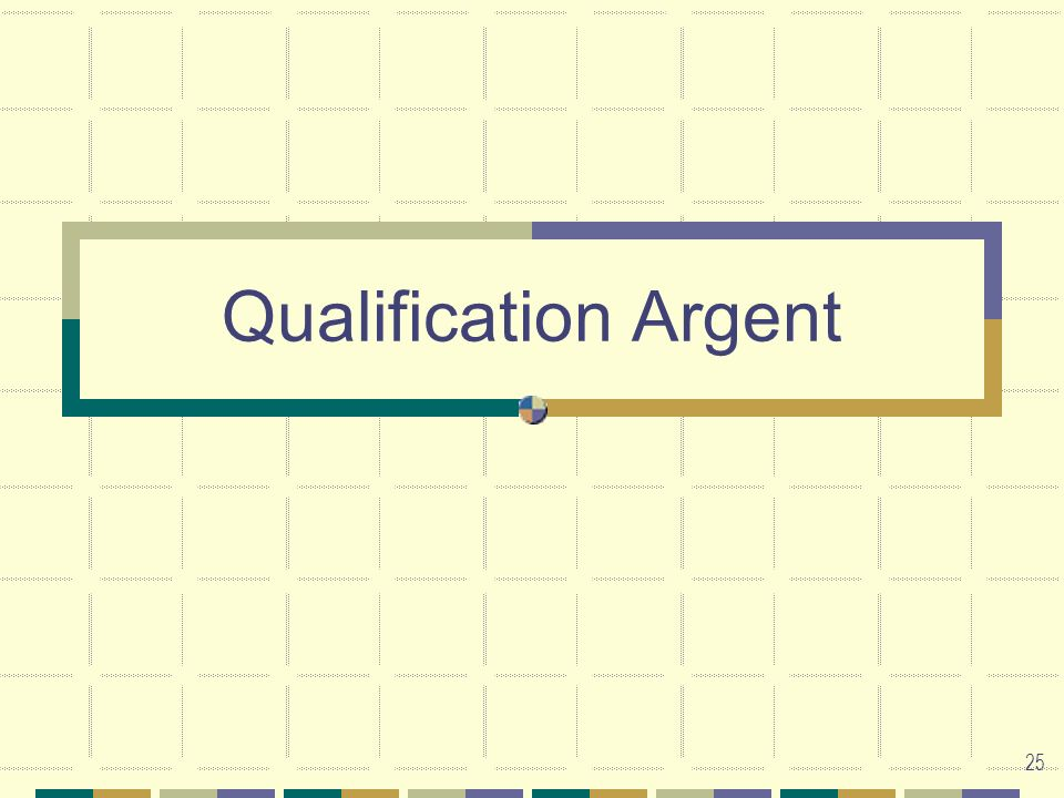 Qualification Argent