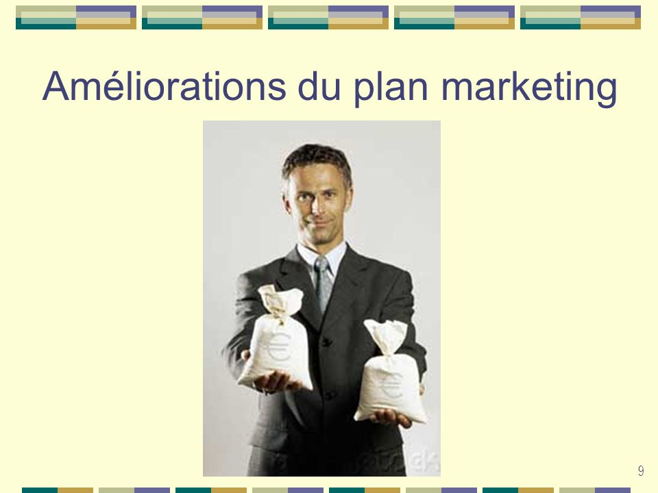 Améliorations du plan marketing