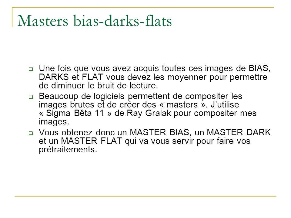 Masters bias-darks-flats