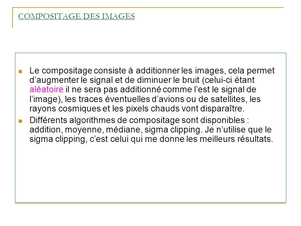 COMPOSITAGE DES IMAGES