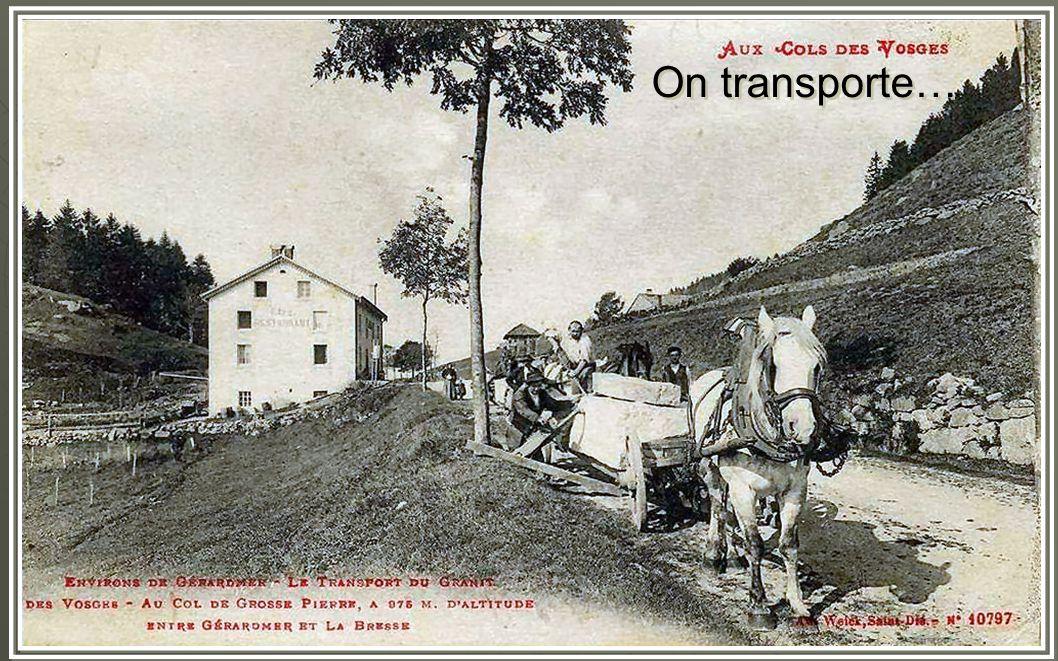 On transporte…