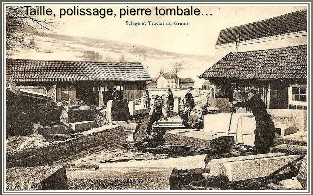 Taille, polissage, pierre tombale…