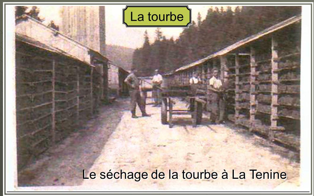 Le séchage de la tourbe à La Tenine