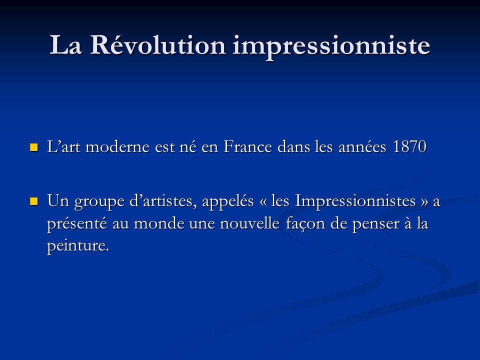 La Révolution impressionniste