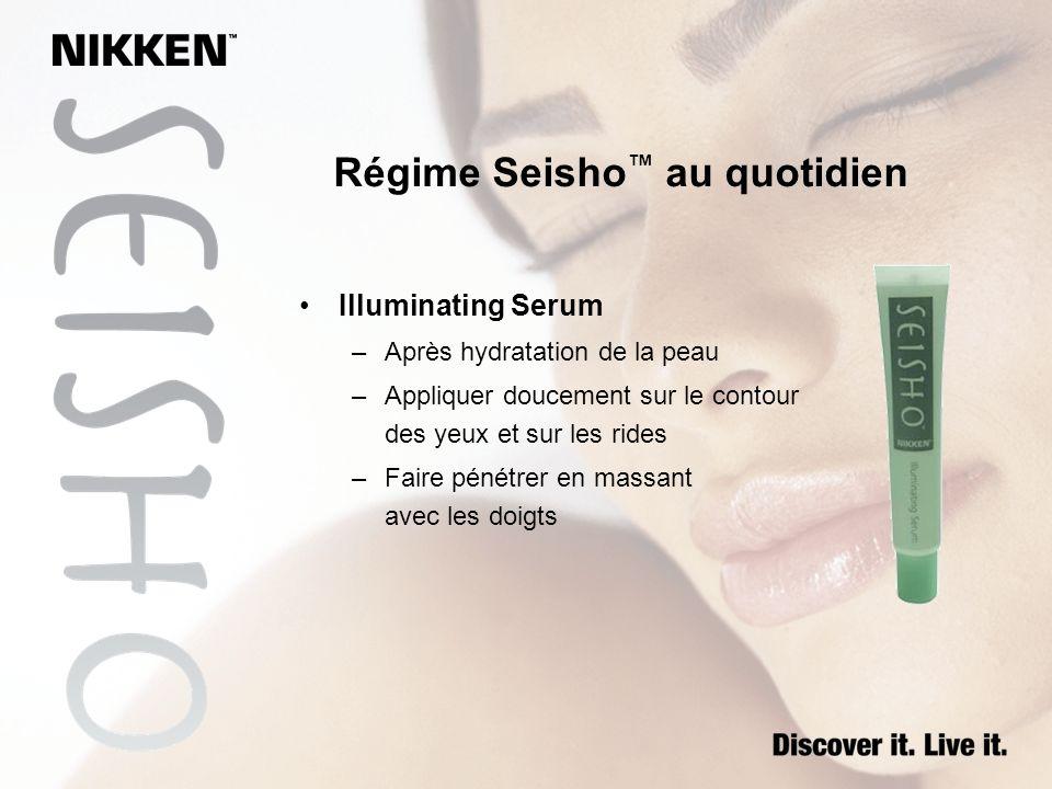 Régime Seisho™ au quotidien