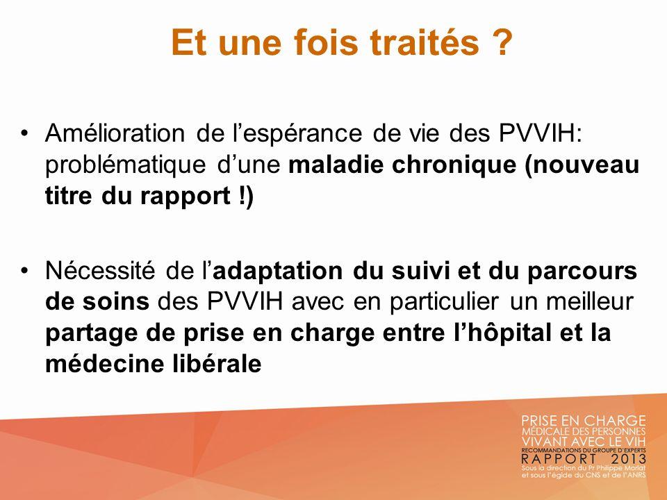 Et une fois traités Amélioration de l'espérance de vie des PVVIH: problématique d'une maladie chronique (nouveau titre du rapport !)
