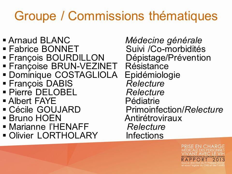 Groupe / Commissions thématiques