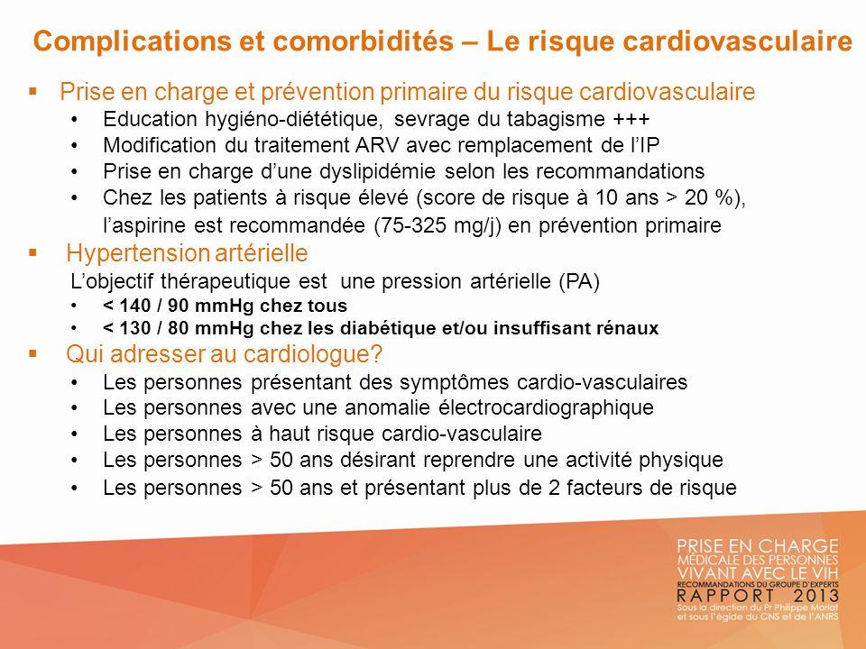 Complications et comorbidités – Le risque cardiovasculaire