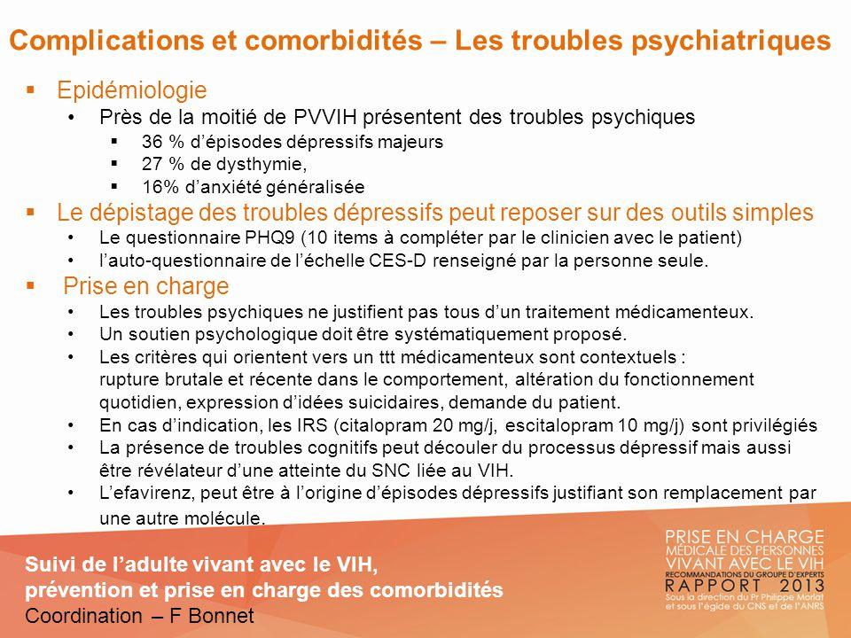 Complications et comorbidités – Les troubles psychiatriques
