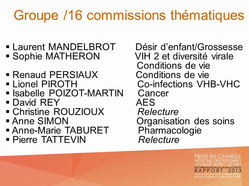 Groupe /16 commissions thématiques