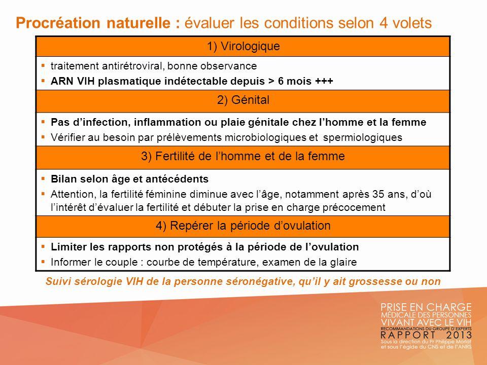 Procréation naturelle : évaluer les conditions selon 4 volets
