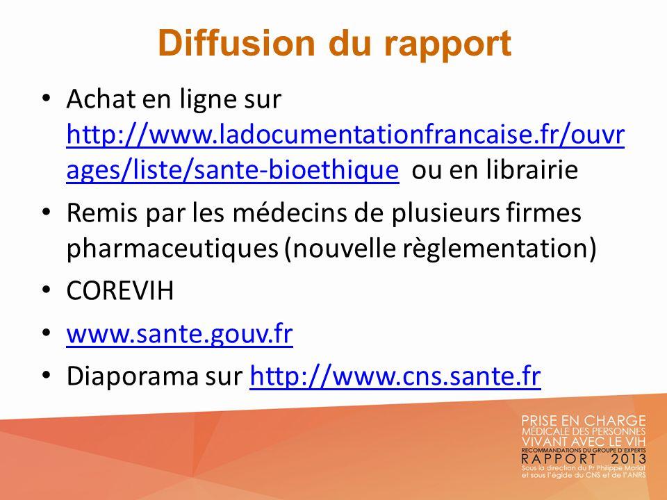 Diffusion du rapport Achat en ligne sur http://www.ladocumentationfrancaise.fr/ouvrages/liste/sante-bioethique ou en librairie.
