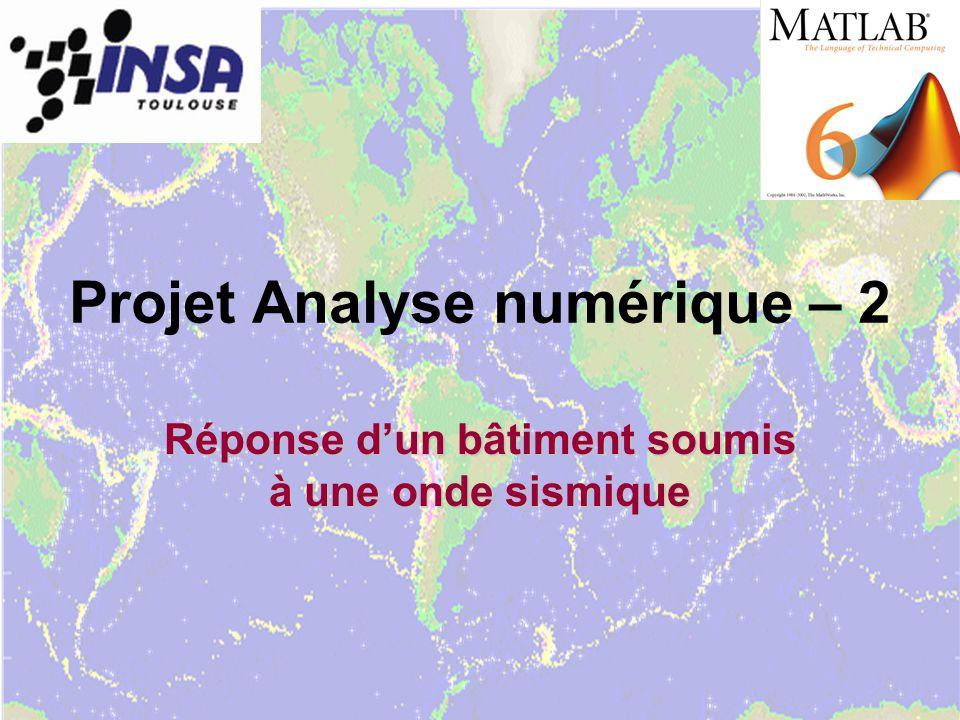 Projet Analyse numérique – 2
