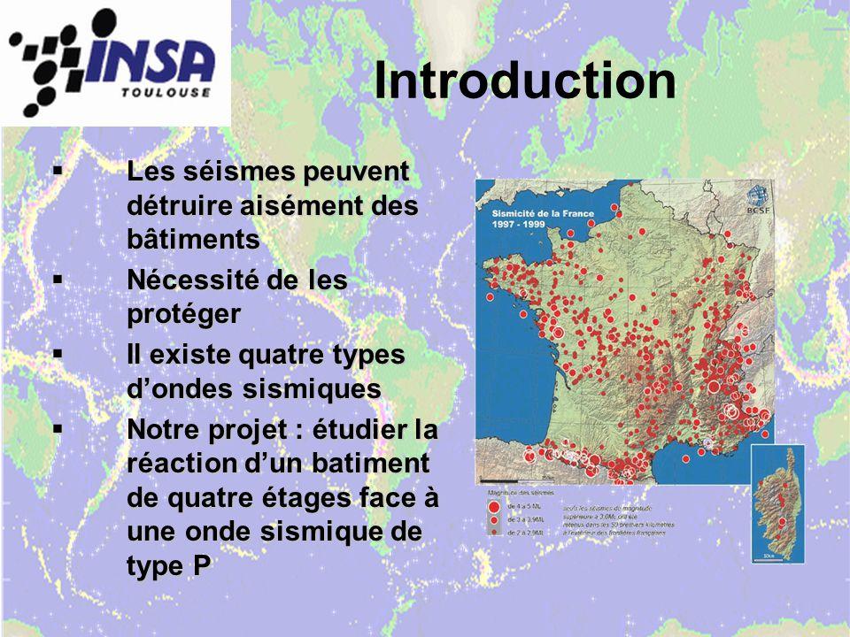 Introduction Les séismes peuvent détruire aisément des bâtiments