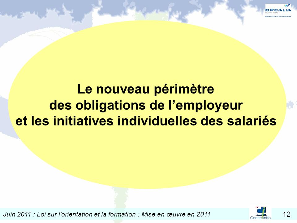 des obligations de l'employeur