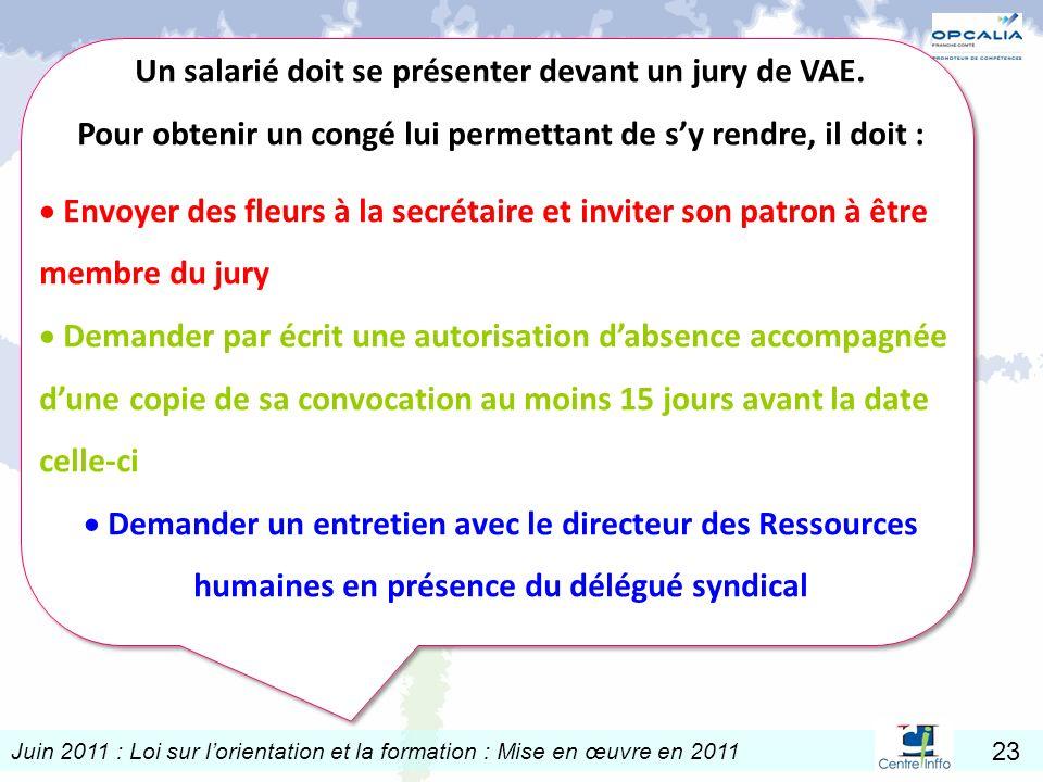 Un salarié doit se présenter devant un jury de VAE