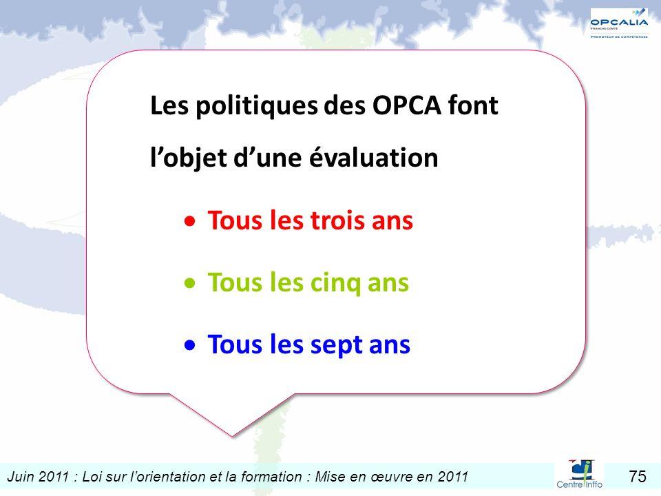 Les politiques des OPCA font l'objet d'une évaluation