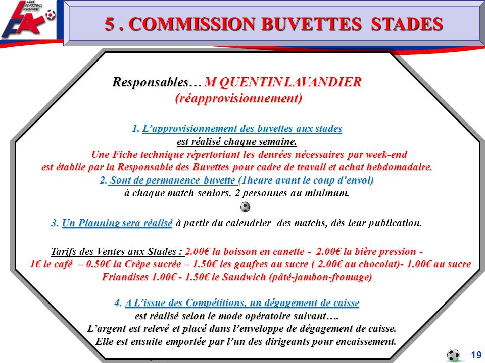 5 . COMMISSION BUVETTES STADES