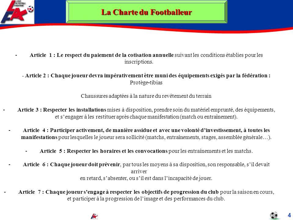 La Charte du Footballeur