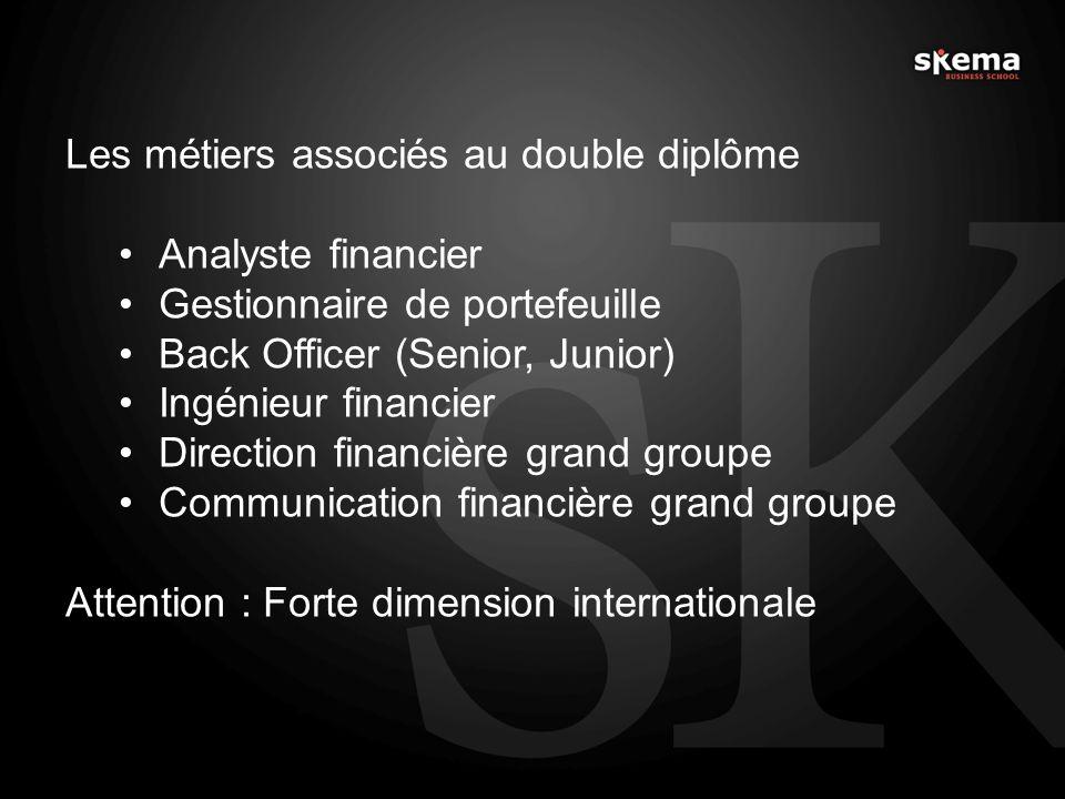 Les métiers associés au double diplôme