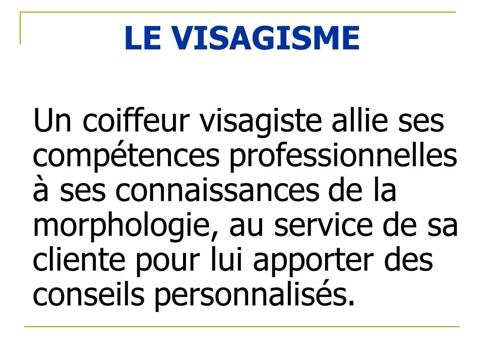 LE VISAGISME