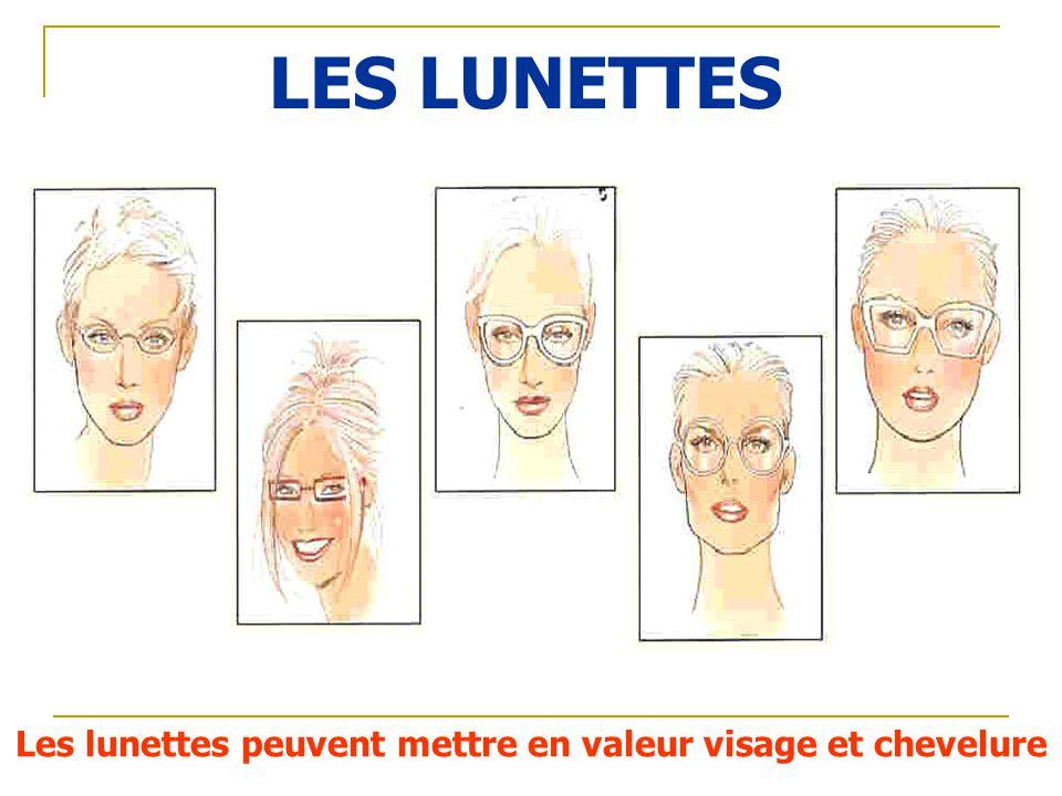 Les lunettes peuvent mettre en valeur visage et chevelure