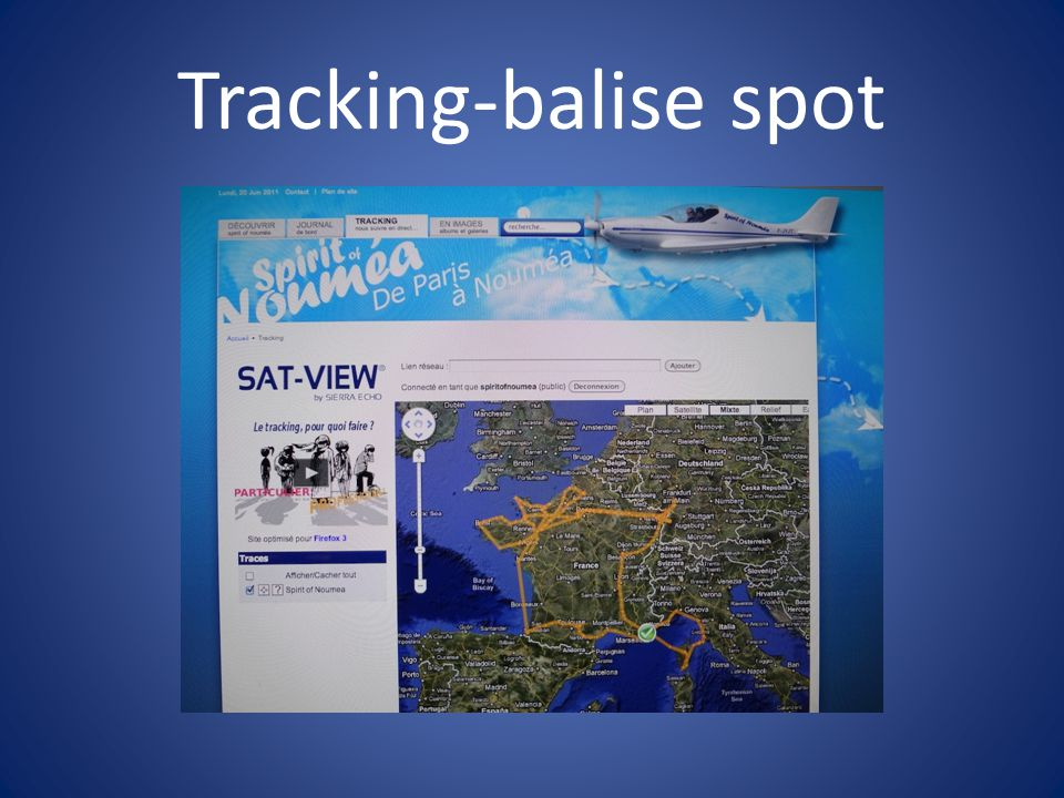 Tracking-balise spot