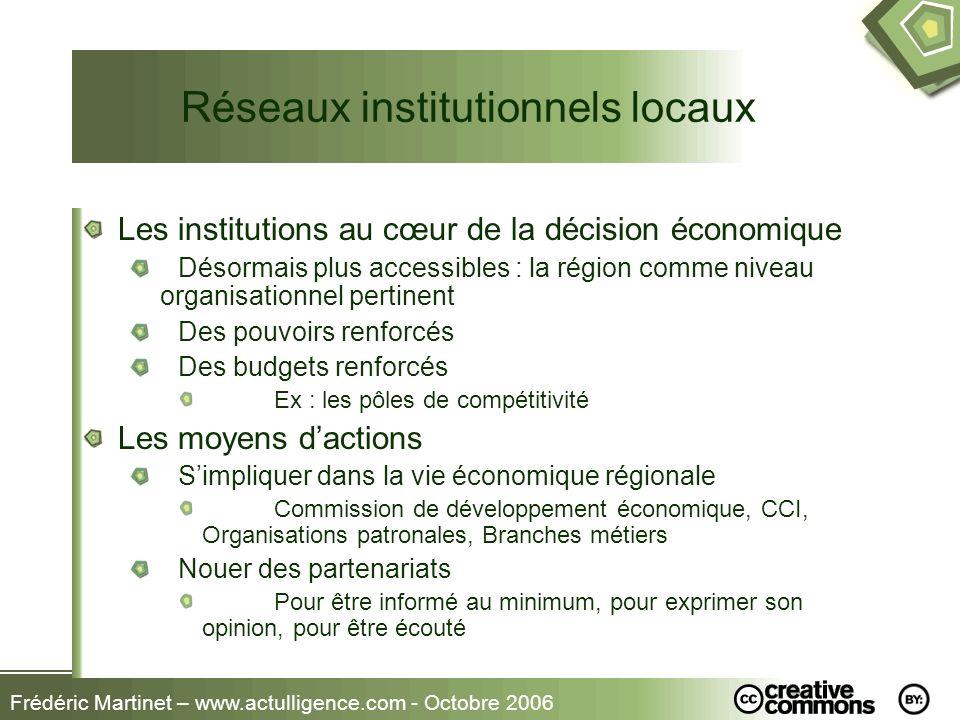Réseaux institutionnels locaux