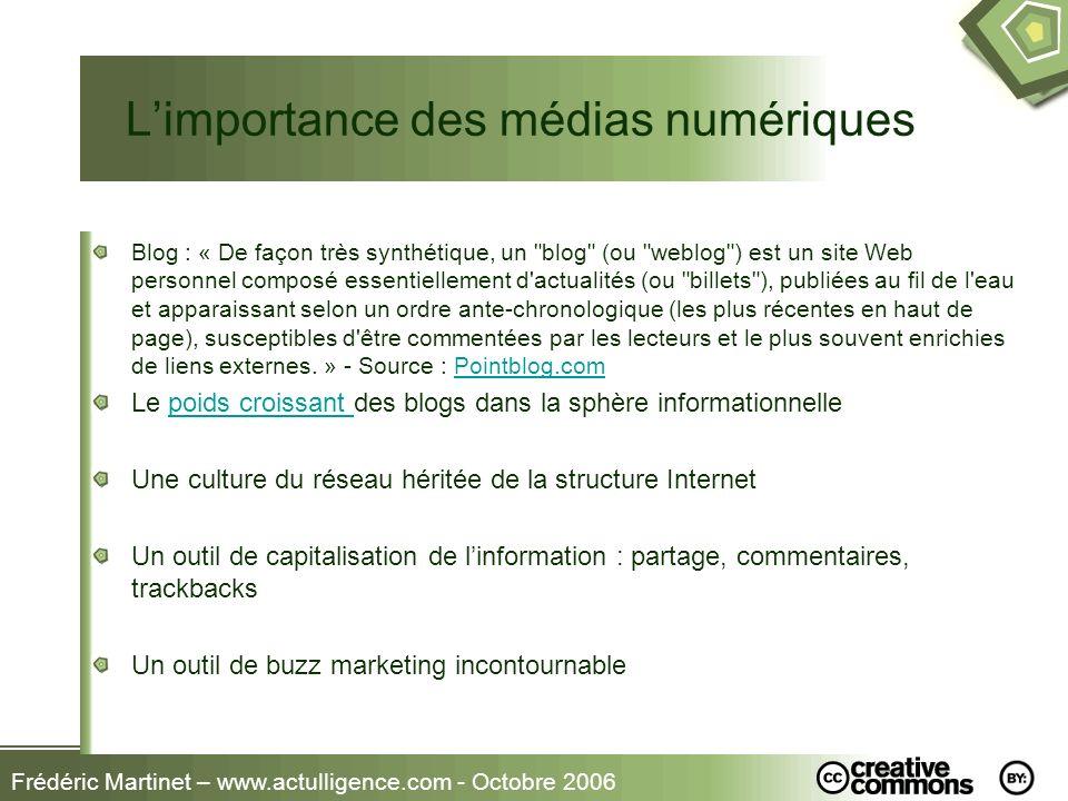 L'importance des médias numériques