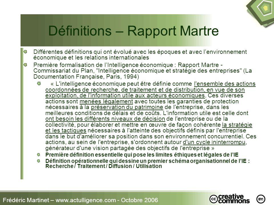 Définitions – Rapport Martre