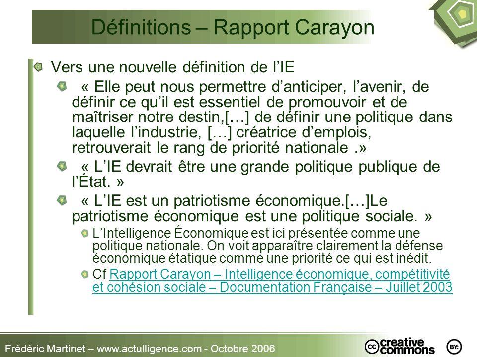 Définitions – Rapport Carayon