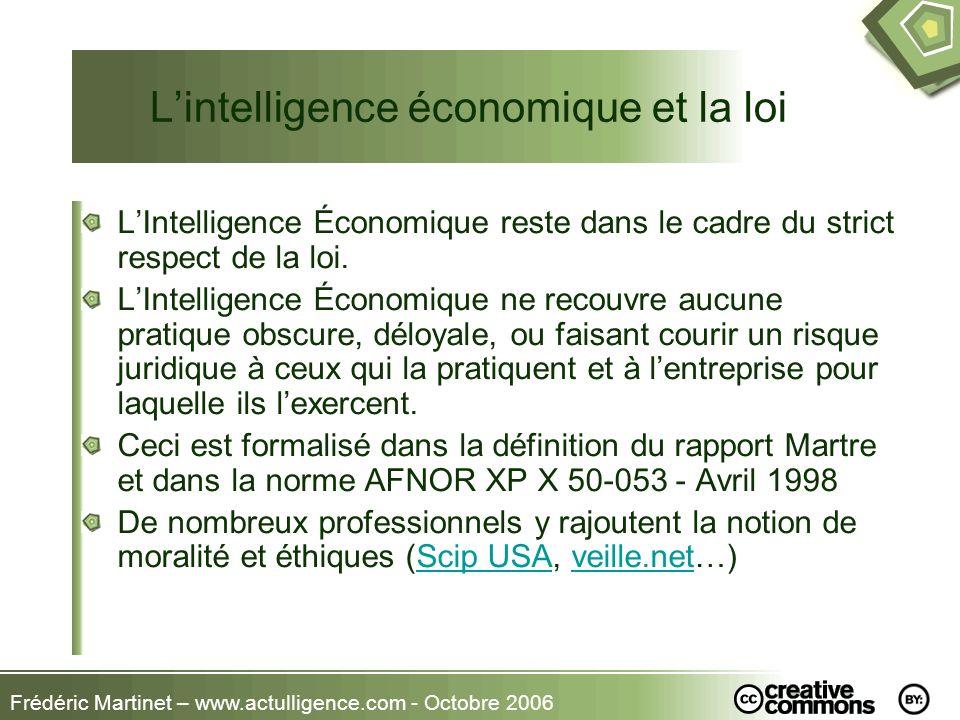 L'intelligence économique et la loi