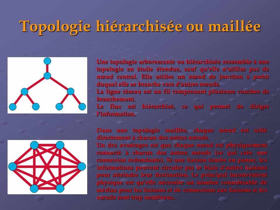 Topologie hiérarchisée ou maillée