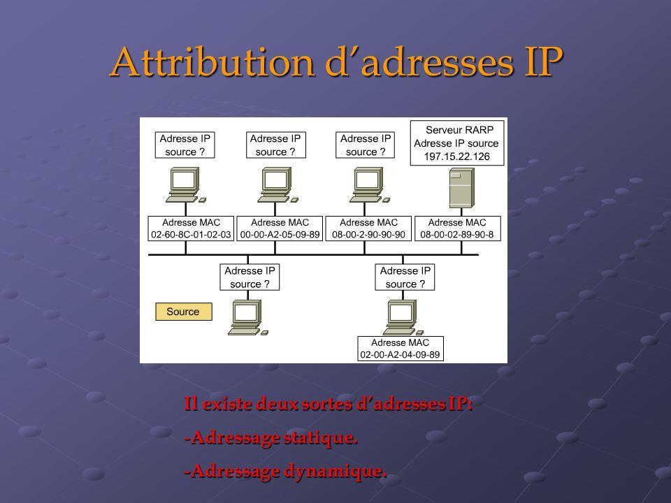 Attribution d'adresses IP