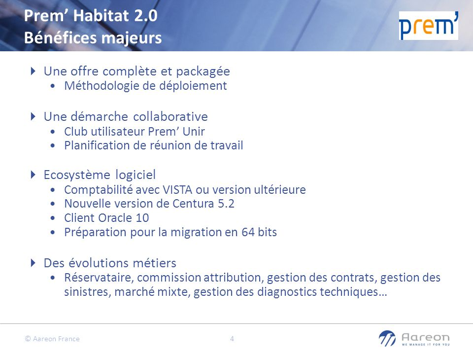 Prem' Habitat 2.0 Bénéfices majeurs