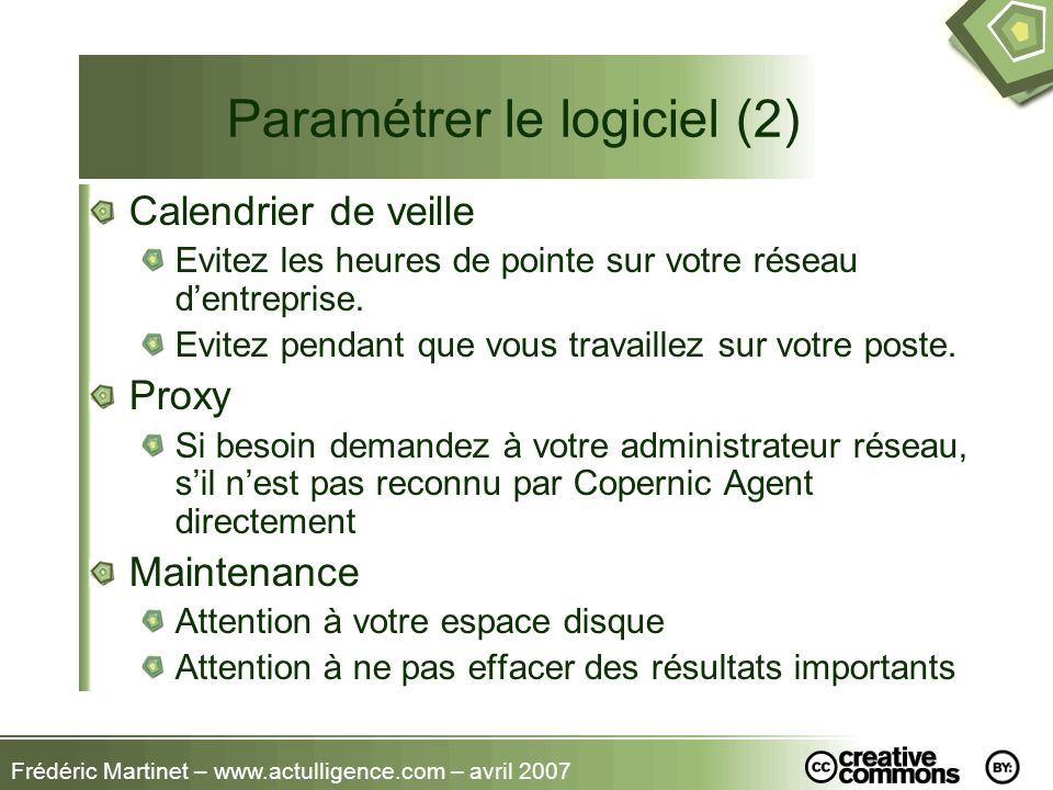 Paramétrer le logiciel (2)
