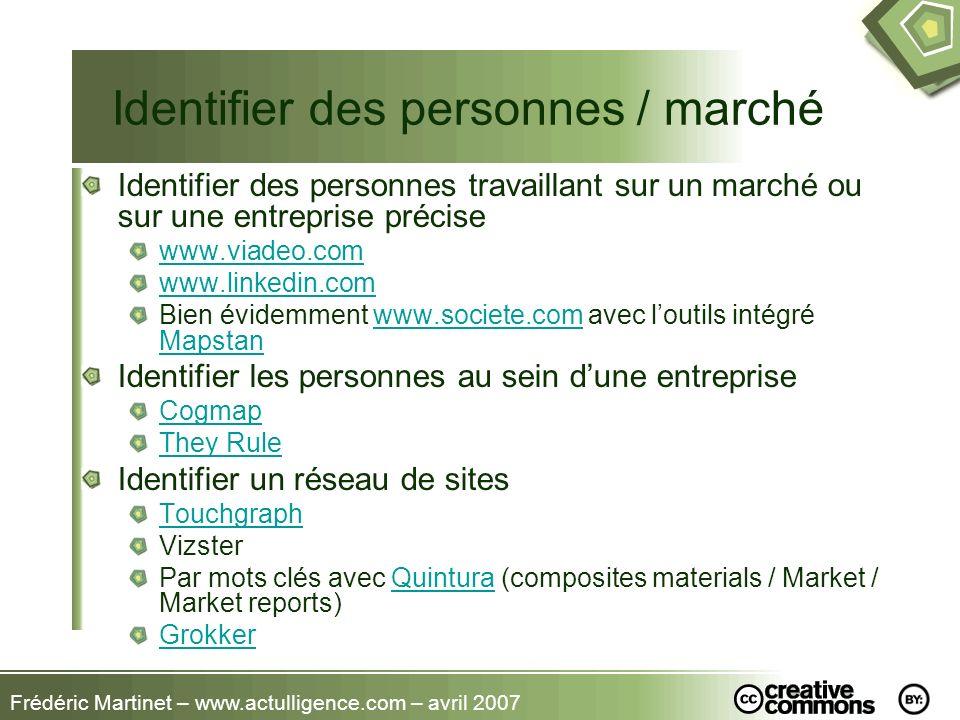 Identifier des personnes / marché