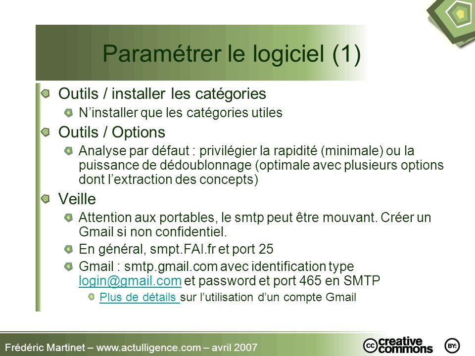 Paramétrer le logiciel (1)