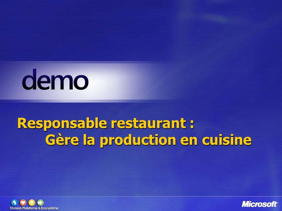 Responsable restaurant : Gère la production en cuisine