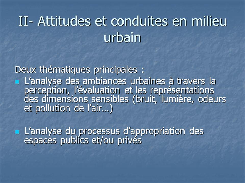 II- Attitudes et conduites en milieu urbain