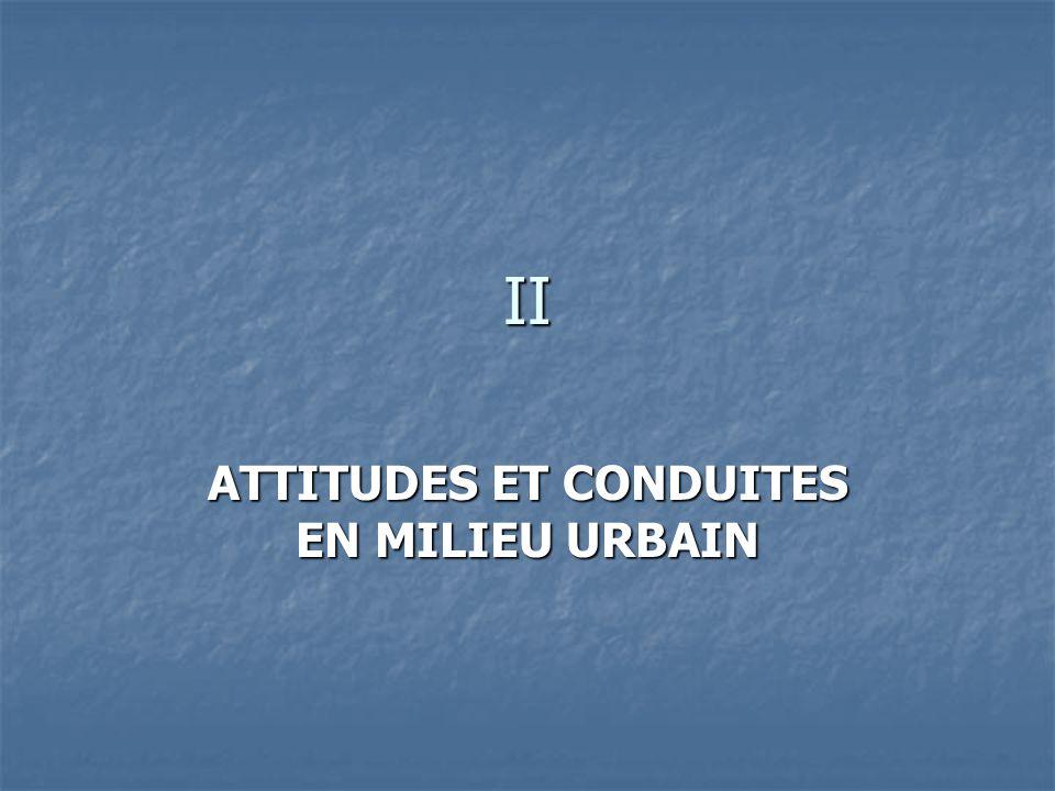 ATTITUDES ET CONDUITES EN MILIEU URBAIN