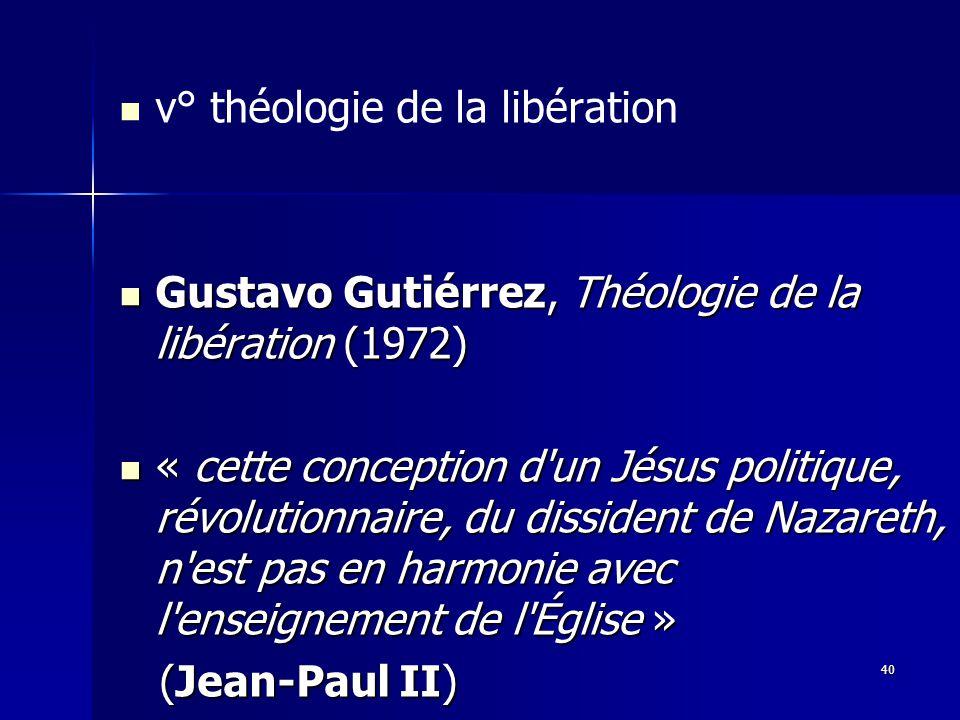 v° théologie de la libération