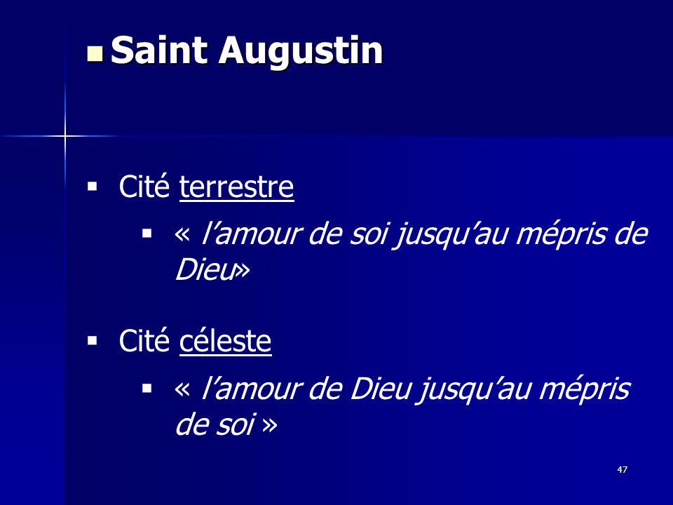 Saint Augustin Cité terrestre