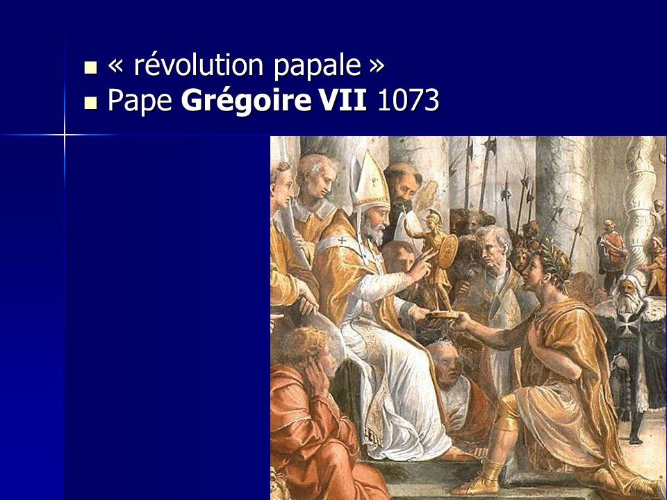 « révolution papale » Pape Grégoire VII 1073