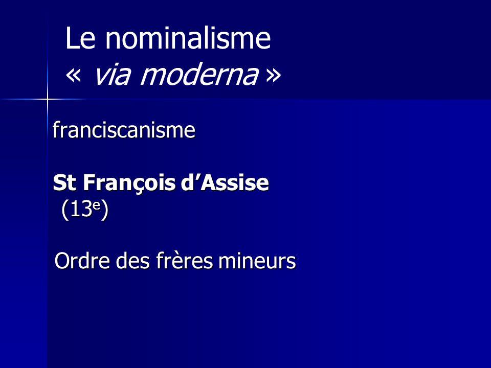 Le nominalisme « via moderna »