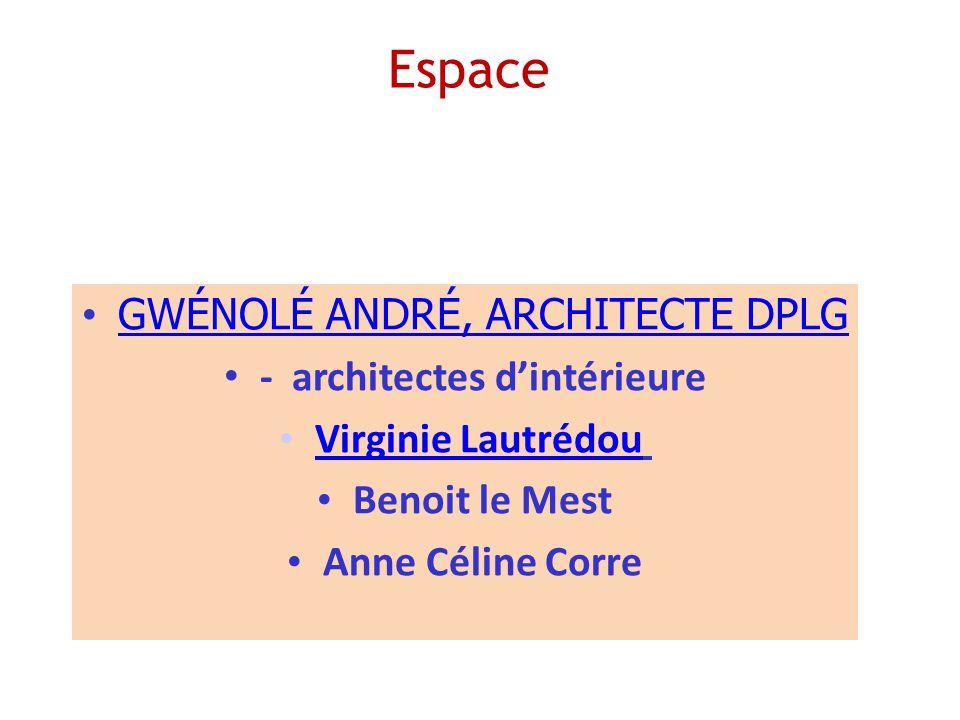 - architectes d'intérieure