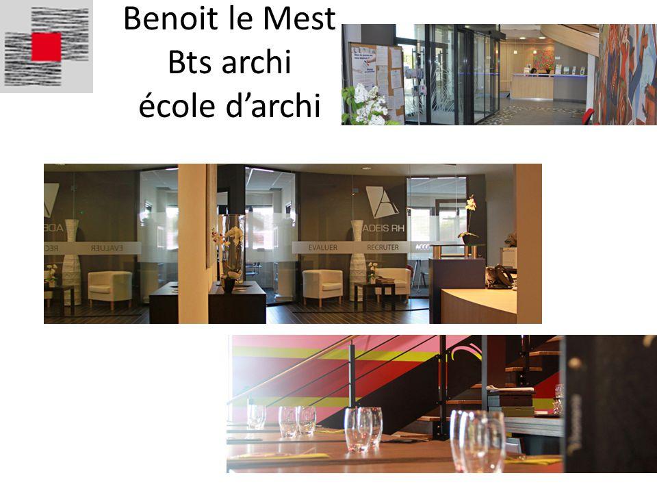 Benoit le Mest Bts archi école d'archi