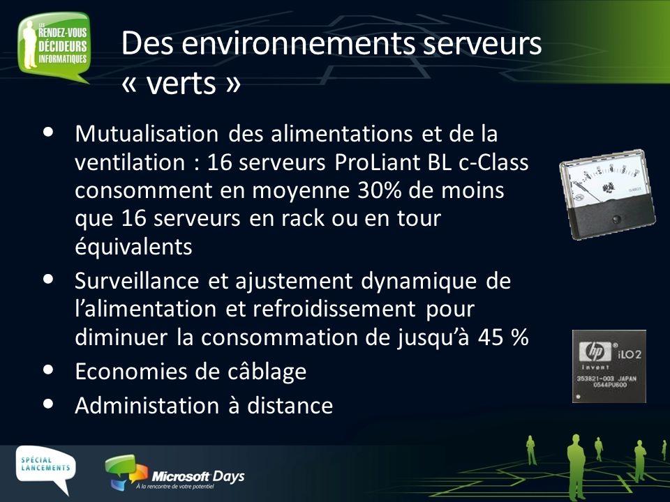 Des environnements serveurs « verts »